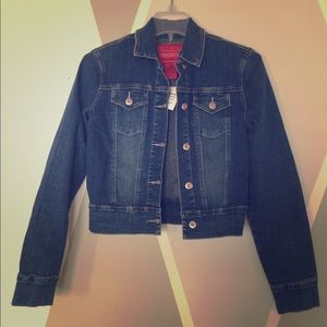 Hot kiss Charlotte Russe Jean Jacket Small NWT